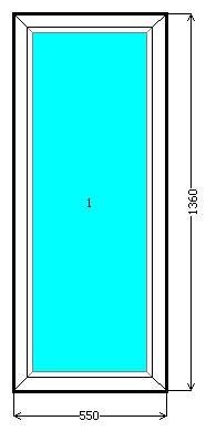 Металлопластиковое глухое окно Опентек (Openteck)