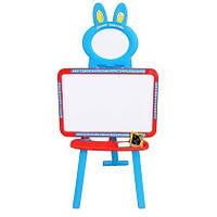 Детский мольберт для рисования 0703 UK-ENG, магнитные буквы 132 шт, 3 в 1, коробке 46х41х6 см