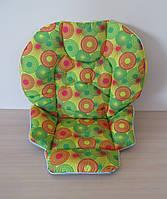 Чехол на стульчик Chicco Polly 2 в 1 круги на желтом, фото 1