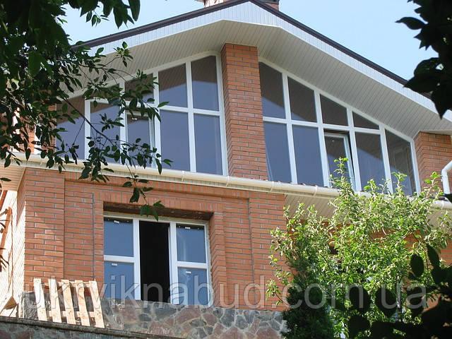 Остекление домов, дач Киев. Установить окна на дачу.