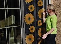 Москитная сетка с подсолнухами Insta-Screen - антимоскитная сетка штора, фото 1
