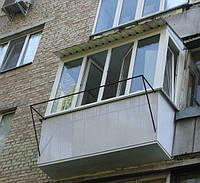 Балкон Rehau Euro 60 с двухкамерным стеклопакетом