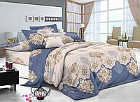 Полуторный комплект постельного белья 150*220 сатин (7215) TM KRISPOL Україна