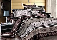 Двуспальный комплект постельного белья 180*220 сатин (7219) TM KRISPOL Украина