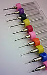 Набор твердосплавных сверл 10шт от 0,1 мм до 1,0 мм, фото 3