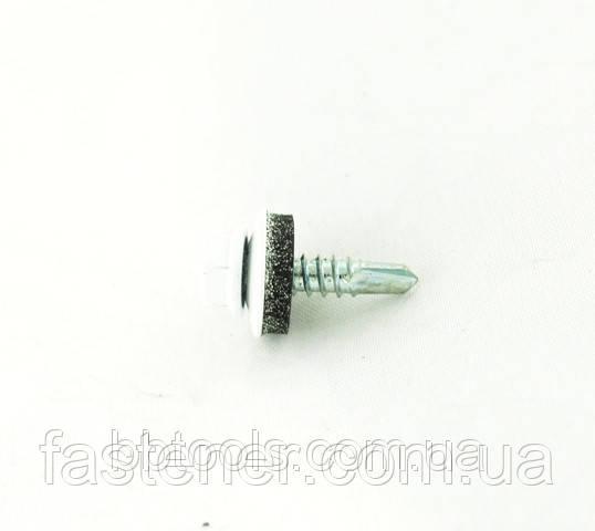 Саморіз для профлиста Impax 4,8х19 з шайбою EPDM, RAL 9010 свердел.(1,5-3,5 мм), упак.-250 шт, ESSVE (Швеція)
