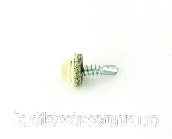 Саморез для профлиста Impax 4,8х19 с шайбой EPDM, RAL 1015 сверл.(1,5-3,5 мм), упак.-250 шт, ESSVE (Швеция)