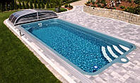 Композитный керамический бассейн LUGANO 7,65 x 3,70 x 1,50 м
