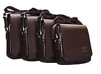 Стильная сумка Kangaroo Kingdom 25-23-8 см.Коричневая