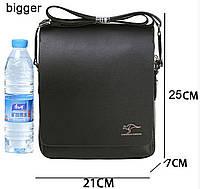 Стильная сумка Kangaroo Kingdom 25-23-8 см.Черная