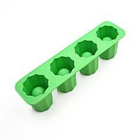 Силиконовая форма для льда (ледяная рюмка-стопка) - Green, фото 1