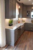 Белая кухонная столешница из акрилового камня