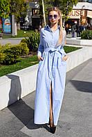 Элегантная летняя рубашка-платье