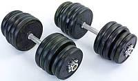 Гантели разборные обрезиненные 50 кг (25х2)