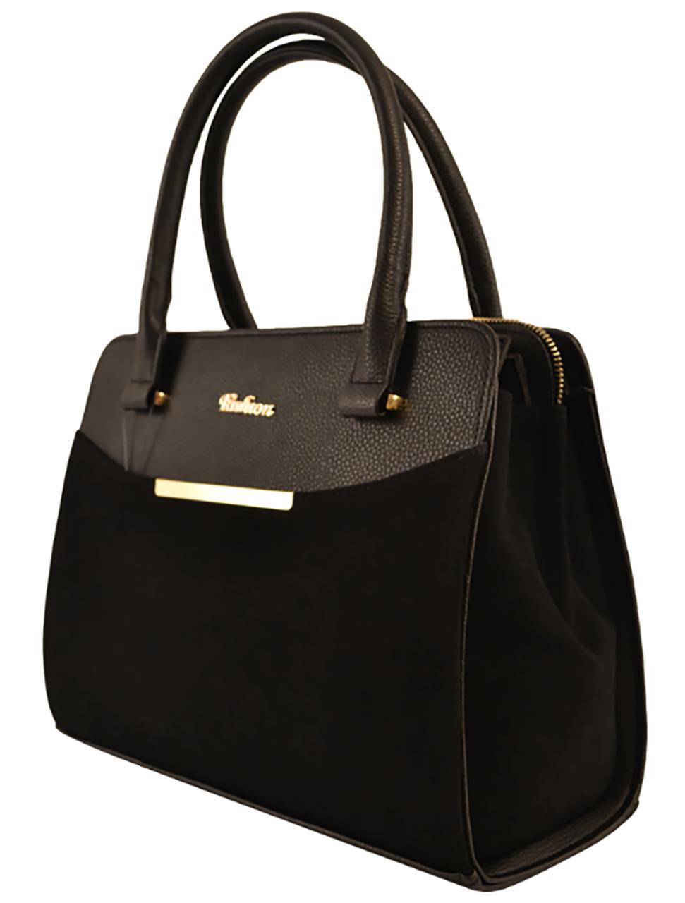 451b34f5d43b Сумка женская классическая черная замшевая офисная - Интернет-магазин женских  сумок в Черновцах