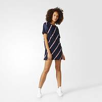 Удобное платье-футболка для женщин adidas Originals Trefoil BJ8369
