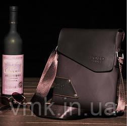 Мужская сумка Polo. Коричневый цвет