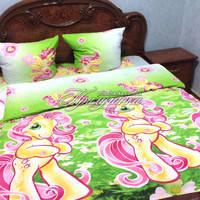 Детский полуторный постельный комплект Литтл Пони