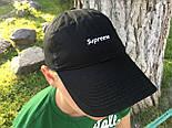 Кепка Cap by Supreme черная(бейсболка). Живое фото! (Реплика ААА+), фото 2