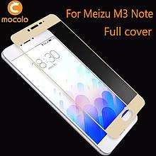 Защитное стекло Mocolo 2.5D 9H на весь экран для Meizu M3 Note золотистый