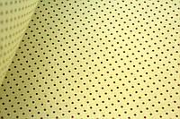 Польський хлопок Горошок коричневий на молочному 2 мм