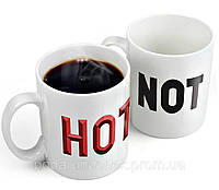 """Чашка """"NOT - HOT"""" волшебная"""