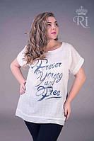Летняя блуза хлопок белого цвета, фото 1