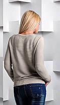 Кофта женская тонкая вязка с гипюром №1650, фото 2