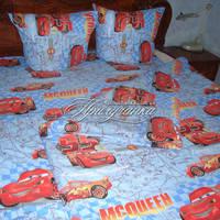 Детский полуторный постельный комплект Тачки