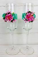 Украшение на свадебные бокалы, фото 1
