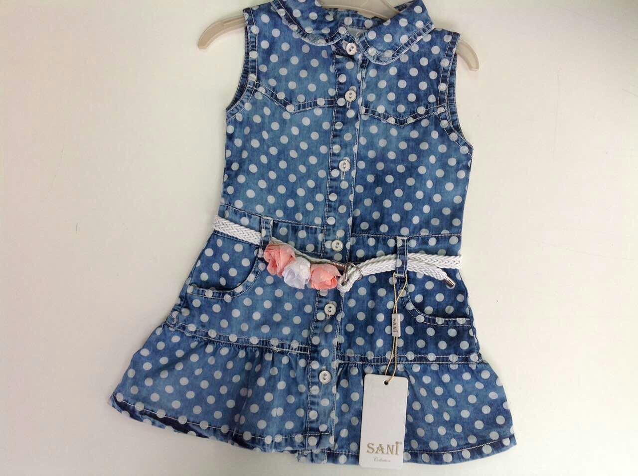 3e9873118a3 Платье джинсовое для девочек в горошек - Интернет-магазин «KatrinStyle» в  Хмельницком