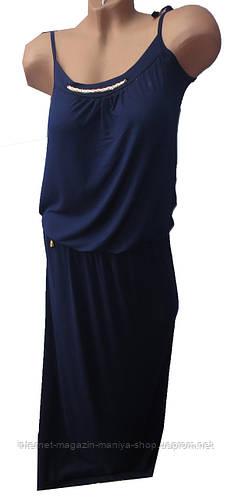 Платье женское с украшением в пол (лето)
