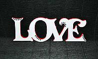 Слово з дерева Love 24*8 см Слово из дерева Свадебный декор
