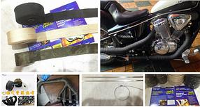 Термо лента на мотоцикл Термо бинт для выпускных коллекторов Thermo Tec.