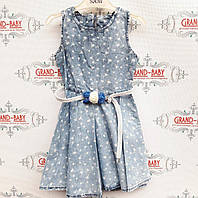 Джинсовое  платья  на девочку .Турция