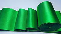 Лента  атласная  №37  (10см/20м) зелен.