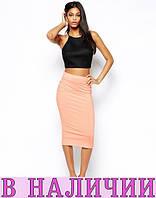 Яркая и удобная трендовая юбка-карандаш до колен Olivia