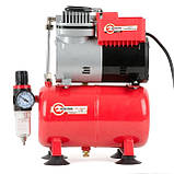 Компресор безмастильний 3 л, 0,3 кВт, 220 В, 3,2атм, 50л / хв INTERTOOL PT-0001, фото 3