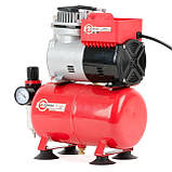 Компресор безмастильний 3 л, 0,3 кВт, 220 В, 3,2атм, 50л / хв INTERTOOL PT-0001, фото 4