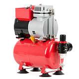 Компресор безмастильний 3 л, 0,3 кВт, 220 В, 3,2атм, 50л / хв INTERTOOL PT-0001, фото 5