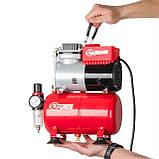 Компресор безмастильний 3 л, 0,3 кВт, 220 В, 3,2атм, 50л / хв INTERTOOL PT-0001, фото 8