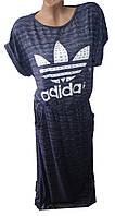Платье женское adidas карманы в пол полу батал (лето)