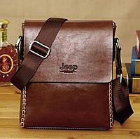 Мужская сумка JEEP BULUO. Темно-коричневая. СК-1026.