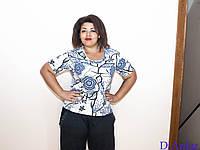 Блузка женская батальная TAN