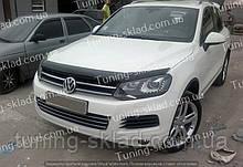 Дефлектор Фольксваген Туарег 2 (мухобойка на капот Volkswagen Touareg II)