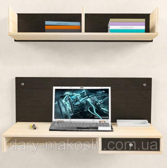 Навесной компьютерный стол ZEUS AirTable™ - R1 Kit, Венге