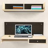 Навесной компьютерный стол ZEUS AirTable™ - R1 Kit, Венге, фото 1