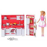 Кукла Defa 8085 с мебелью и кухонными принадлежностями, 60х35х9,5 см, световые эффекты