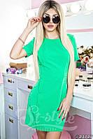Красивое женское мини платье в сочных оттенках