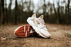 Женские кроссовки Nike Wmns Air Huarache Run PRM Oatmeal Khaki Sail 683818-102, Найк Аир Хуарачи, фото 2